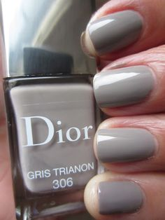 """Dior Gris Trianon is simply described as """"grey"""". Gris Trianon is a warm, slightly putty leaning grey creme. Perfect with just two coats."""