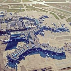 Vancouver International Airport from above.