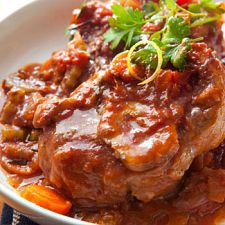 Saturday, July 20, 2013 Best Osso Bucco  Feeling fancy? We've got the best laid dinner plans for you. Enjoy this appetizing Osso Bucco. Rich in flavor, it is the perfect way to please your dinner guests. They are certain to say shank you very much.