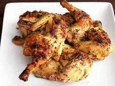The Food Lab: Grilled Cornish Hens with Rosemary and Lemon. The easiest bird to grill whole. And, they have extremely tender, juicy meat to boot. Cornish Hen Recipe, Cornish Game Hen, Grilled Cornish Hens, Rosemary Recipes, Food Lab, Serious Eats, 30 Minute Meals, Easy Chicken Recipes, Cooking Recipes
