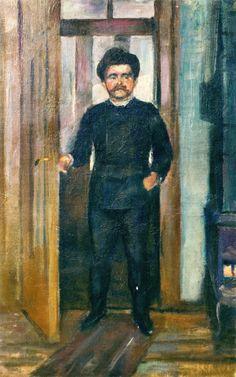 Edvard Munch - 1889, Man Standing in the Doorway