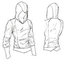 Assassin Beaked Hoodie. Something simple, with a nice beaked hood, and sleek lines. Not quite your basic hoodie, but simple enough to keep the price down. Each one is made with an Assassin's Creed...