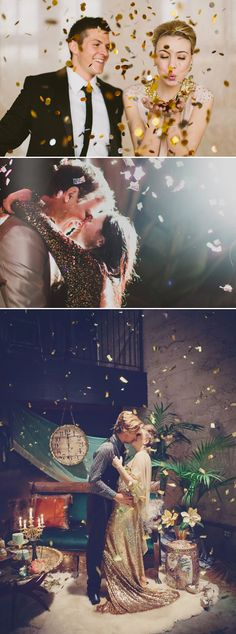 21 Cute New Year's Eve Couple Photo Ideas - Confetti