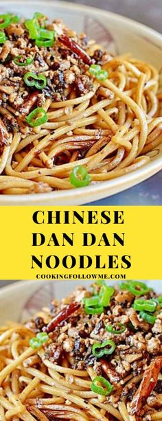 Among the Top Ten Famous in China list there must be a DanNoodles ( ). If youre not familiar with Chinese Dan Dan Noodles (中华担担面) they are Chinese noodles with a dark sauce that usually contains preserved vegetables chili oil minced pork and green onions. Asian Noodle Recipes, Asian Recipes, Ethnic Recipes, Oriental Recipes, Pork Recipes, Dan Dan Noodles Recipe, Chinese Food Culture, Chinese Noodle Dishes, Blog Food