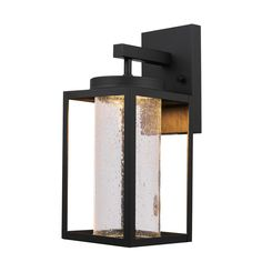 Globe Electric Capulet 1 Light Black Led Integrated Outdoor Indoor Wall Lantern Sconce 44359 The Home Depot Indoor Wall Sconces Led Outdoor Wall Lights Outdoor Wall Sconce