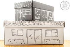 Shoe box toy storage with hand drawn picture Simple Toy Storage Ideas for Easy Organization Organisation Hacks, Desk Organization Diy, School Supplies Organization, Ideas Para Organizar, Box Houses, Diy Cardboard, Toy Storage, Storage Ideas, Kids Storage
