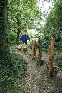 A challenging adventure trail in amongst the natural woody setting