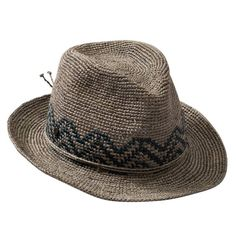 The Kaminski XY Lagi Fedora is a crochet raffia spring and summer fedora with a crisp center crease crown and a rolled raffia braid string. Crochet Skirts, Knit Crochet, Crochet Hats, Crochet Cowboy Hats, Knitted Hats, Sombrero A Crochet, Millinery Hats, Crochet Doll Clothes, Hat Making