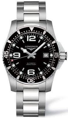 Longines Black Dial HydroConquest Automatic Diver Mens Watch - L3.642.4.56.6 Longines http://www.amazon.com/dp/B002FVYTE0/ref=cm_sw_r_pi_dp_FzWIub0NTK65K
