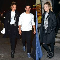 Gigi Hadid and boyfriend Joe Jonas arrive at the Saturday Night Live after party #model #style #fashion #gigihadidmodelsstylee #gigihadid #joejonas