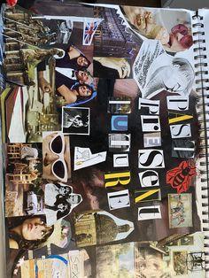 Sketchbook Layout, Textiles Sketchbook, Gcse Art Sketchbook, Art Journal Inspiration, Art Inspo, Art Sketches, Art Drawings, Photography Sketchbook, Magazine Collage