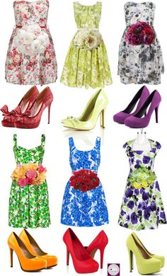 Lovely: Patterned Bridesmaids Dresses...who wouldn't want to wear one of these to a wedding? Think of the dimension and interest it would add to your photos! Pretty!