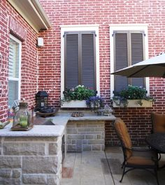 False Window with Louvered Shutters - Slide Bolt and Faux Tilt Rods ...