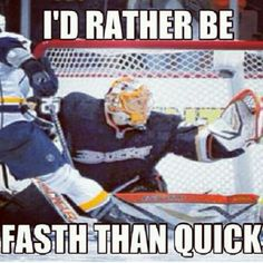 This goalie [and this meme] is catching on with Ducks fans...fast.