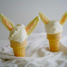 Sorvete de coelhinho, perfeito para a Páscoa!