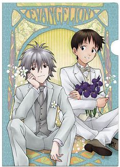 AmiAmi [Character & Hobby Shop] | Neon Genesis Evangelion - Clear File A: Shinji & Kaworu (Flowers). The best relationship!