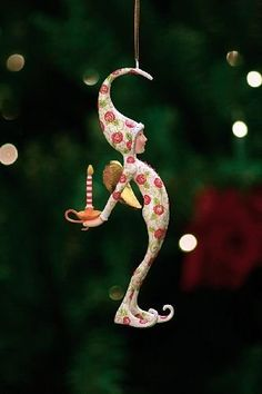 Rose Pj Fairy Ornament  - Patience Brewster is widely known for her Krinkles collection.  Link    #Christmas