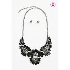 black gem jewelry ensemble