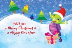 Merry Christmas Purple Turtle, School Videos, Merry Christmas, Christmas Ornaments, Early Learning, Pre School, Happy New Year, Homeschool, Nursery