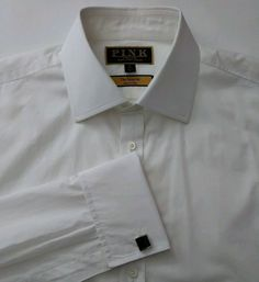 040095af4de Thomas Pink The Imperial 200s Men Dress Shirt 16-41 a bit Slim French cuff
