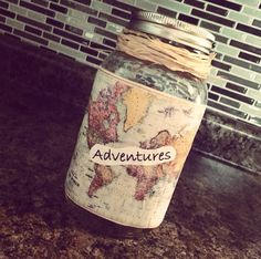 DIY crafts - Mason jar crafts - Adventures jar - Piggy bank                                                                                                                                                                                 More
