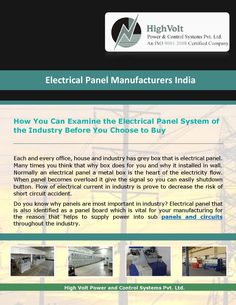 Electrical panel manufacturers company for your sourcing needs. Exports & Supply quality control panels. So before you decide to any decision check the genuine need of your manufacturing and buy it.