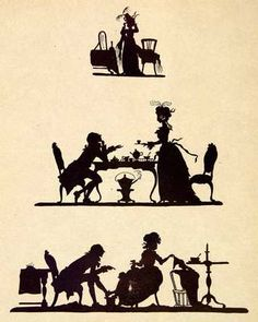 1911 print featuring the silhouette of a Victorian woman. $48.95