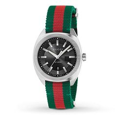 Gucci Watch Swiss Green-Red-Green Web Nylon Strap in Jewelry & Watches, Watches, Parts & Accessories, Wristwatches Gucci Watches For Men, Luxury Watches, Leather Watches, Guccio Gucci, Gucci Men, Gucci Jewelry, Jewelry Watches, Men's Watches, Nice Watches