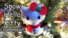 How to Make a Snow Hello Kitty ornament plushie tutorial