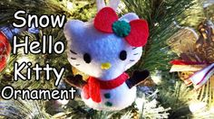 How to Make a Snow Hello Kitty ornament plushie tutorial
