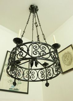 Your place to buy and sell all things handmade Victorian Chandelier, Vintage Chandelier, Corporate Goth, Wrought Iron Chandeliers, Shabby, Wall Lights, Ceiling Lights, Candle Chandelier, French Chateau