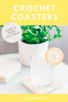 Free crochet pattern for textured Crochet Coasters. These are made with beginner techniques and tutorial for easy beginner crocheting. Easy Beginner Crochet Patterns, Crochet Potholder Patterns, Crochet Coaster Pattern, Modern Crochet Patterns, Basic Crochet Stitches, Doily Patterns, Crochet For Beginners, Crochet Squares, Dress Patterns