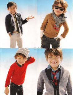 love these looks for little boys.