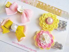 Girls/Baby Hair Clip Set Felt Flower Felt Bow Hair Clips