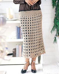 long crochet skirt pattern via 20 Popular Free #Crochet Skirt ...