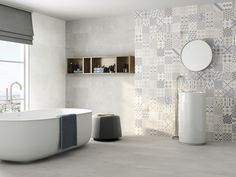 Downstairs Bathroom, Tiles, Bathtub, Steel, Design, Interiors, Products, Ideal House, Home Layouts