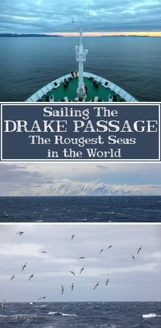 The Drake Passage is famous for containing the roughest seas in the world. See what it's like to get the Drake Lake or the Drake Shake! Places Around The World, Around The Worlds, Extreme Activities, Drake Passage, Adventures Abroad, Travel 2017, Vacation Trips, Vacations, Antarctica