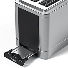 Amazon.com: Vremi Toaster 2 Slice Stainless Steel - Retro Toaster for Bagels with Wide Slots for Large Slice Bread and Temp Control - Cool Silver and Black Toaster with Pop Up Reheat Defrost Removable Crumb Tray: Kitchen & Dining