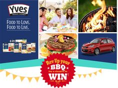 Yves Veggie Canada Giveaway win a Nissan Micras, BBQ's and free product coupons all summer long! Contests Canada, Bbq, Veggies, Vegetarian, Vegan, Nissan, Coupons, Giveaway, Summer