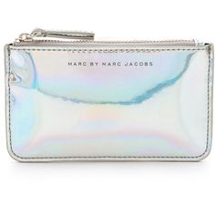 Marc by Marc Jacobs Techno Key Pouch (66 AUD) ❤ liked on Polyvore featuring bags, handbags, clutches, accessories, purses, bolsas, light holographic, key bag, key purse and zipper purse