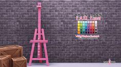 "pink-fuel: "" E.A.S.L. Easel ➟ Base Game. Dropbox | SimFileShare Credits ➟ @wildlyminiaturesandwich ➟ Sims 4 Studio """
