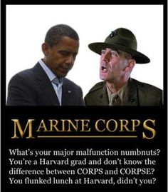 Surprised? Famous Marine Drill Instructor is NOT a Fan of Obama