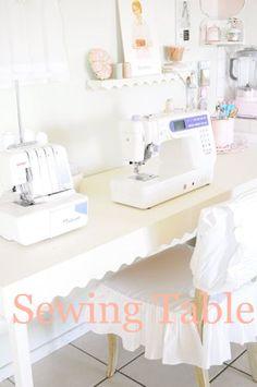 Perfect vintage sewing room!