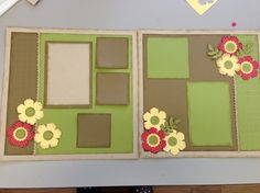 Blossom Punch Spring Scrapbook layout