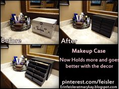 Self made DIY makeup storage box organizer For more pics of the process click picture :)