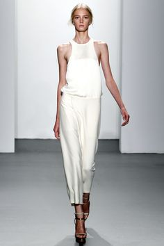 Calvin Klein Spring 2011 / Sigrid Agren    this looks kinda similar to dress i'm going to wear to a prom, but mine is black