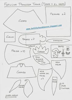 Las Fofuchas de Karura: Moldes Fofuchas Princesas Disney