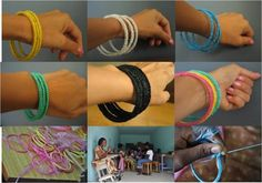 Recycled Plastic Bags Bracelets Recycled Plastic Upcycled Jewelry Ideas