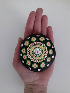 Handpainted sea Pebble with paints of high quality acrylics and covered with a protective matte varnish Very beautiful decorative object that will look great in your home