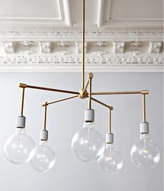 #DIY Brass 5-Light Chandelier